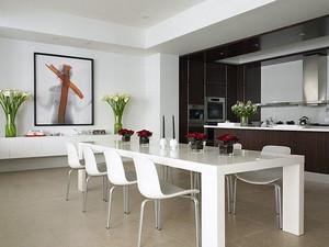 现代简约风格别墅型简约时尚餐厅装修效果图