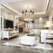 大户型简欧风格精致典雅客厅吊顶装修效果图赏析