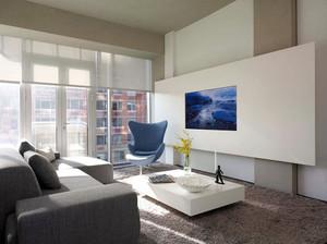 现代简约风格精致创意客厅电视背景墙装修效果图