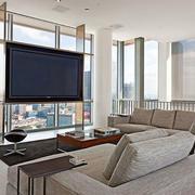 后现代风格简约时尚创意客厅装修效果图