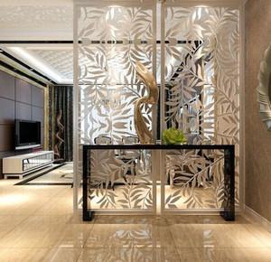 美式风格简约时尚创意进门玄关隔断装修效果图