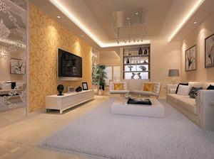 小户型欧式风格客厅吊顶装修效果图实例