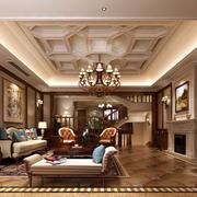 复式楼古典欧式风格精致客厅装修效果图鉴赏