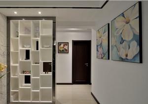 现代中式风格精致大户型客厅玄关隔断装修效果图