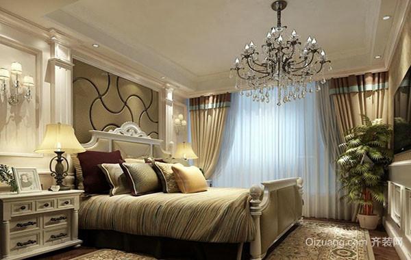 简欧风格精致时尚大户型卧室吊顶装修效果图