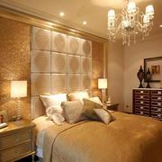 简欧风格精致大户型卧室背景墙装修效果图