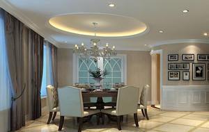 90平米大户型现代简约餐厅吊顶装修效果图