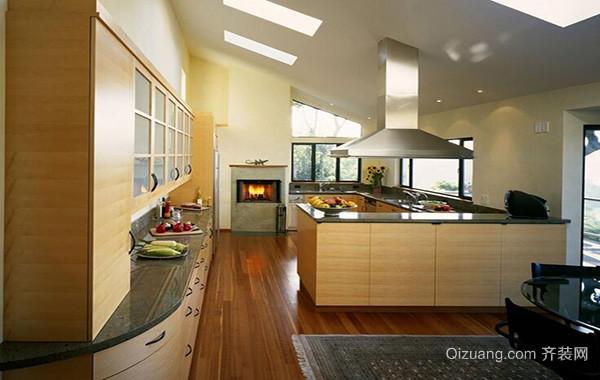 2016别墅型欧式厨房装修设计效果图欣赏