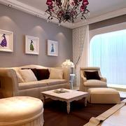 小户型欧式现代客厅装修效果图实例欣赏