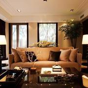 90平米现代客厅室内设计装修效果图实例