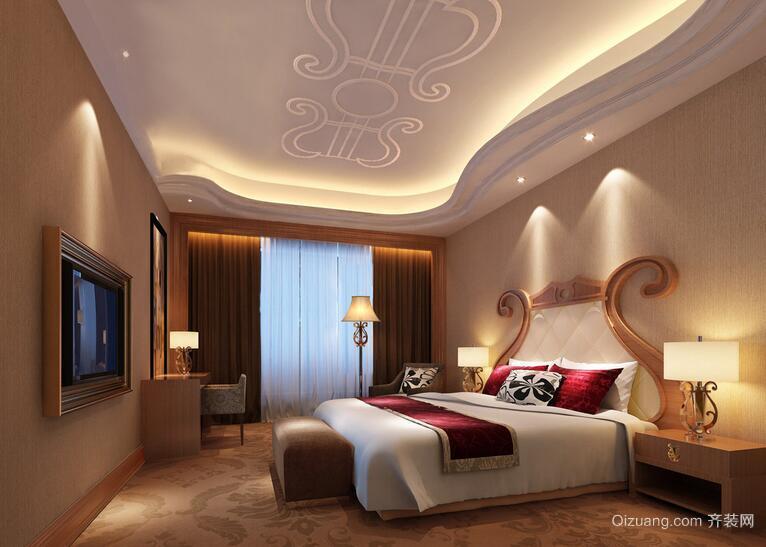 2016欧式高贵卧室室内装修效果图实例