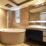 2016别墅型现代简约卫生间设计装修效果图