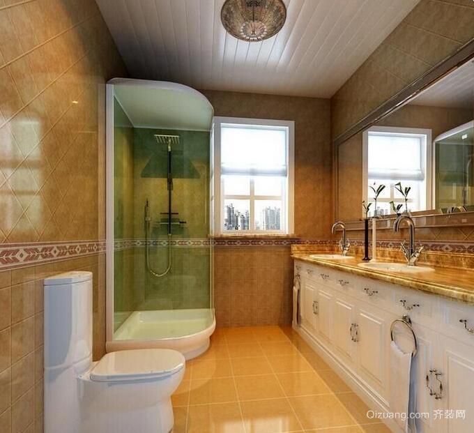 2016别墅型欧式卫生间装修效果图欣赏