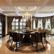 2016大户型欧式风格餐厅设计装修效果图实例
