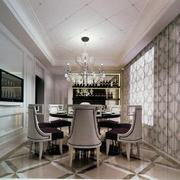 70平米小户型精美欧式餐厅装修效果图