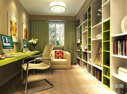 20平米现代简约风格时尚创意大书房装修效果图