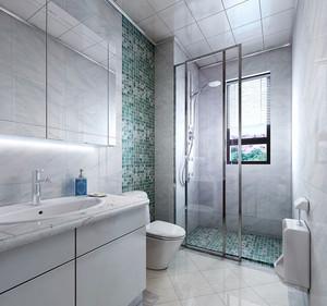 现代简约风格精致时尚卫生间隔断装修效果图