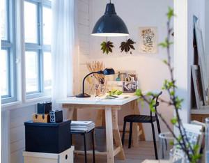 90平米北欧风格自然朴素小书房装修效果图大全