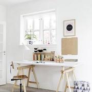 80平米单身公寓北欧风格简约自然小书房装修效果图