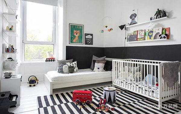 北欧风格现代简约大户型儿童房装修效果图赏析