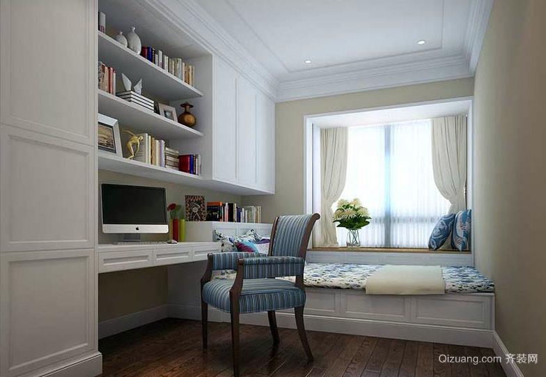 15平米现代简约风格书房榻榻米装修效果图