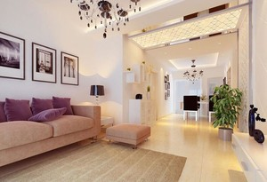欧式风格小户型室内玄关设计装修效果图