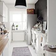 70平米北欧风格白色主调小厨房装修效果图