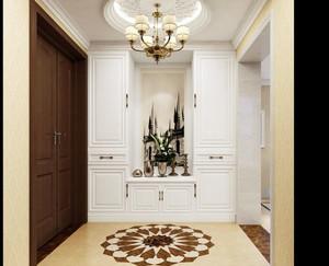 别墅型欧式风格精致简约玄关装修效果图