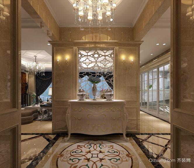 别墅型欧式风格精致典雅玄关装修效果图赏析