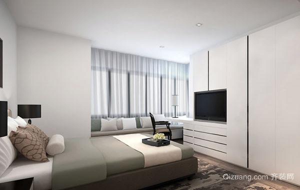 大户型现代简约风格卧室飘窗装修效果图大全