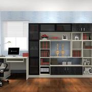 现代简约风格精致大户型书房装修效果图