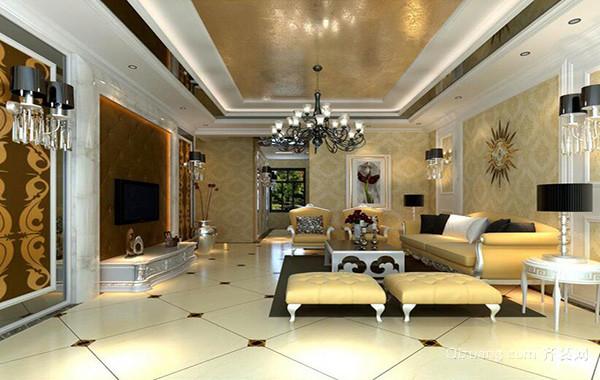 2016小户型欧式风格客厅室内设计装修效果图