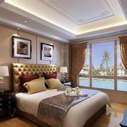 精致时尚卧室背景墙装修效果图