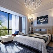 简约精致卧室飘窗设计