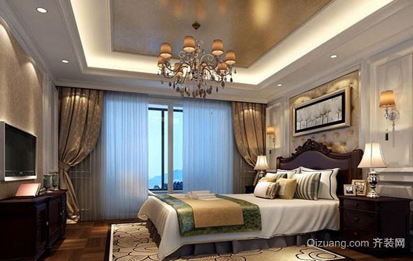 欧式风格别墅型精致简约卧室吊顶装修效果图
