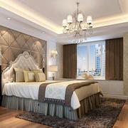 120平米三居室简欧风格精致简约卧室装修效果图