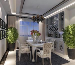 90平米大户型欧式餐厅设计装修效果图
