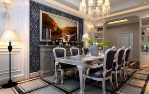 2016别墅型欧式餐厅室内设计装修效果图