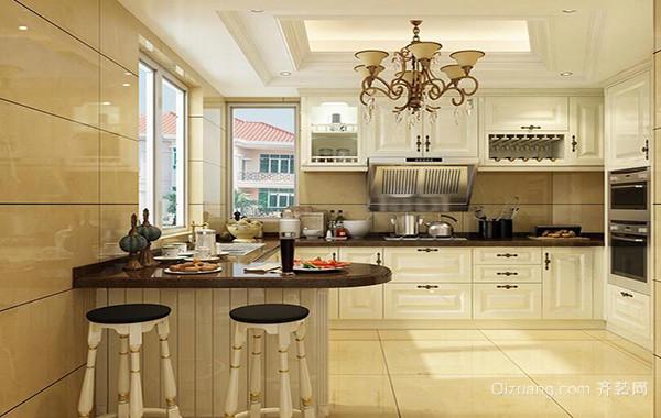 别墅型欧式厨房室内设计装修效果图实例