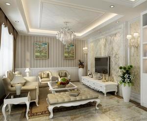 90平米别墅欧式客厅装修效果图实例