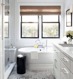 120平米三居室现代简约风格精致卫生间装修效果图