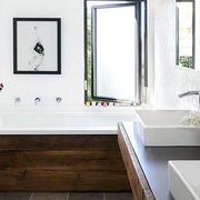 美式风格精致简约80平米两居室卫生间装修效果图