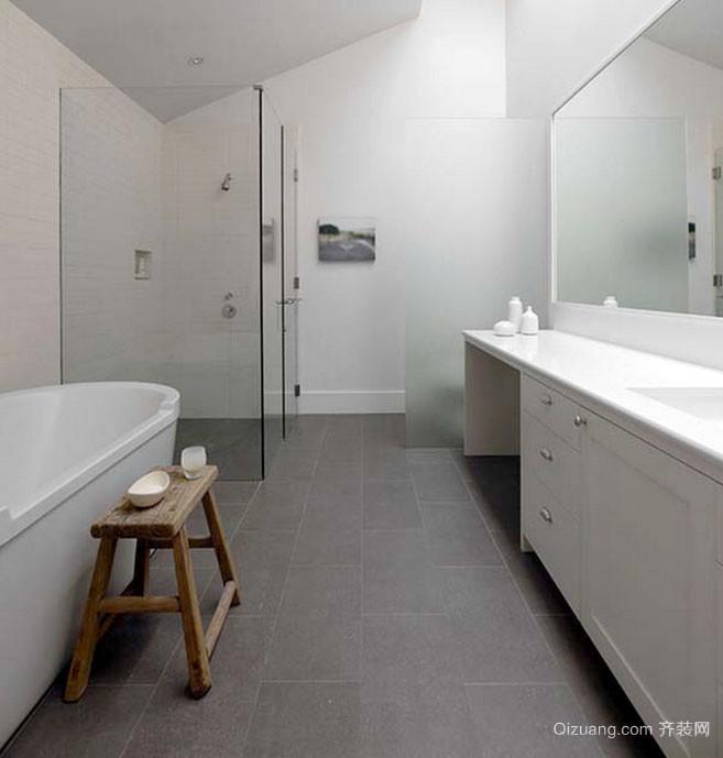美式风格别墅型简约时尚卫生间隔断装修效果图