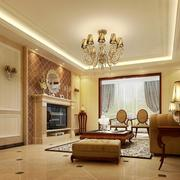 2016小户型欧式客厅室内设计装修效果图欣赏