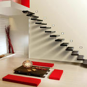 90平米跃层后现代风格简约创意楼梯装修效果图