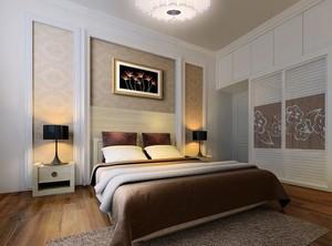 2016别墅型欧式卧室背景墙装修效果图实例