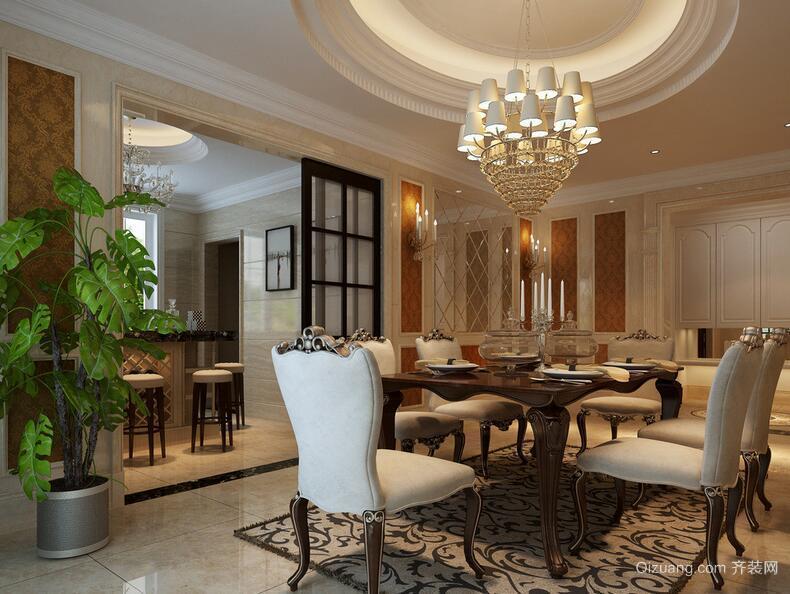 90平米欧式餐厅设计装修效果图欣赏