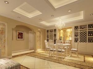 120平米大户型餐厅室内设计装修效果图鉴赏