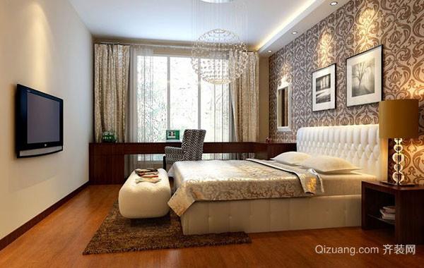 现代简约朴素大户型卧室背景墙装修效果图赏析