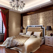 精致卧室背景墙